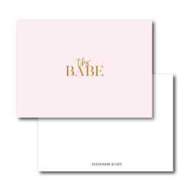 Mini Kaart | Thx Babe | Pink