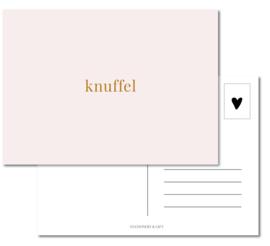 Kaart | Knuffel Roze