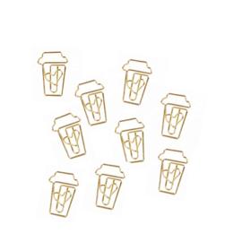 Paperclips COFFEE Gold | 10 stuks