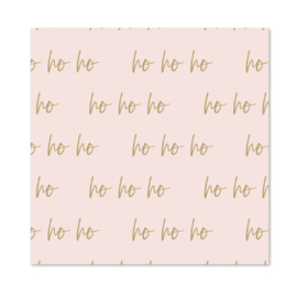 1 vel inpakpapier | HO HO HO Pink & Brown