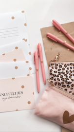 Pen | Pink & a Golden Heart