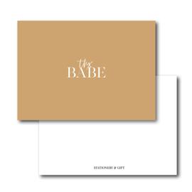 Mini Kaart | Thx Babe | Leopard Brown