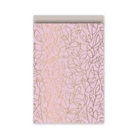 5 x Cadeauzakjes Pink Flowers  | Small