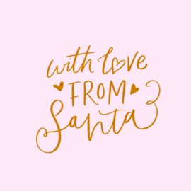 With love from Santa | met Goudfolie