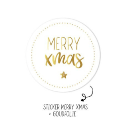 Stickers   Per 10 stuks   Merry Xmas
