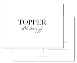 Kaart | TOPPER dat ben jij