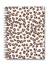 Notitieboek met elastiek naar keuze!  | Pink Leopard