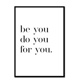 Poster A4 | Be you