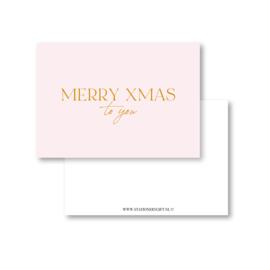 Minikaart | Merry Xmas  to you | Met Goudfolie