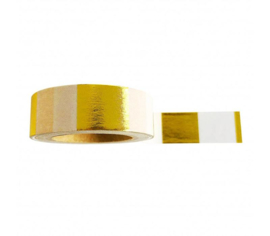 Washi tape | Gold Foil & White