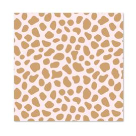 1 vel Inpakpapier | Pink Cheetah
