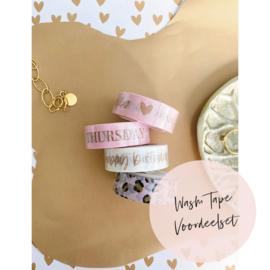 Aanbieding | 4 Washi Tape Voordeelset