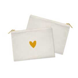 Cosmetic Bag / Etui | Heart of GOLD