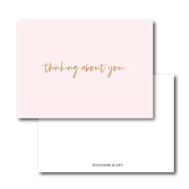 Mini Kaart | Thinking about you