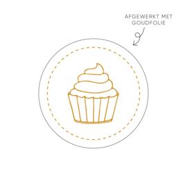 Stickers   Per 10 stuks   Cupcake