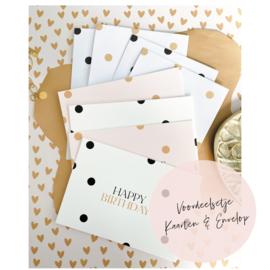 Aanbieding | 4 kaarten & 4 enveloppen
