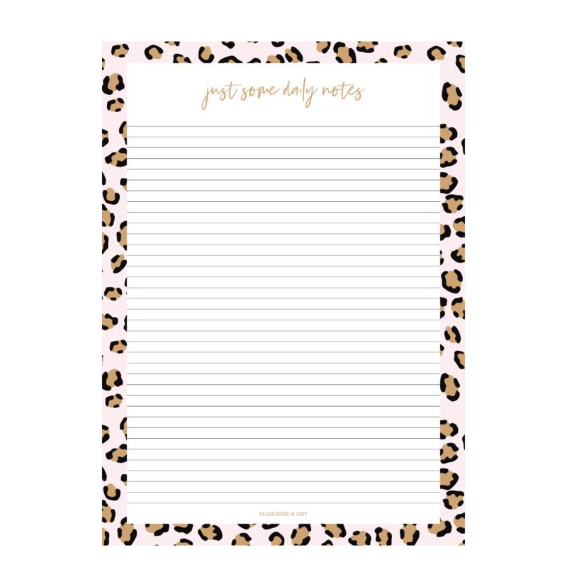 Schrijfblok A4   Pink Leopard