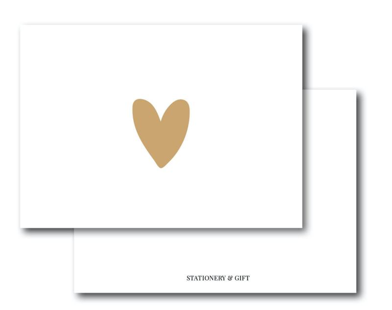 Mini Kaart   Heart Leopard Brown