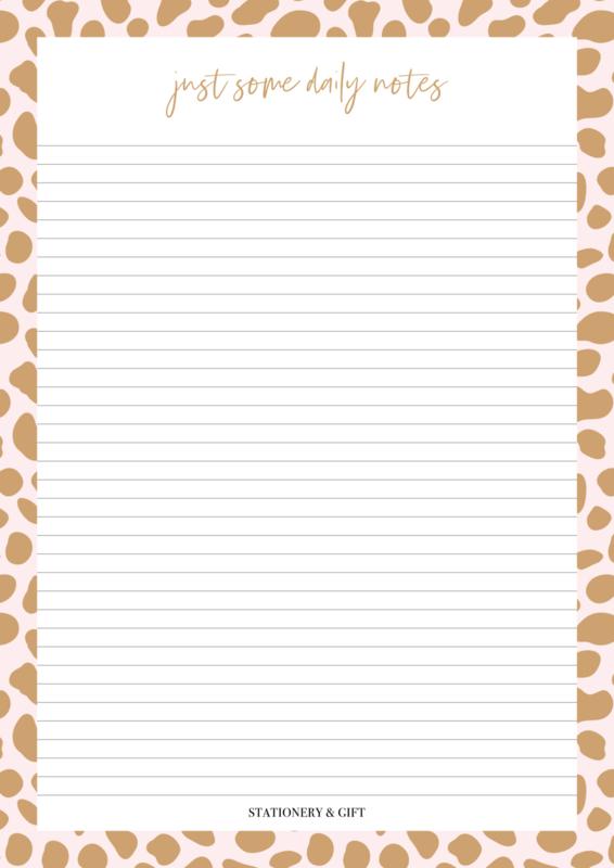 Schrijfblok A4 | Pink Cheetah