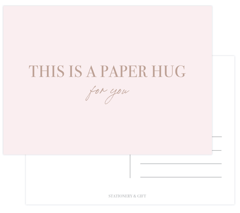 This is a paper hug | met Rose Goudfolie