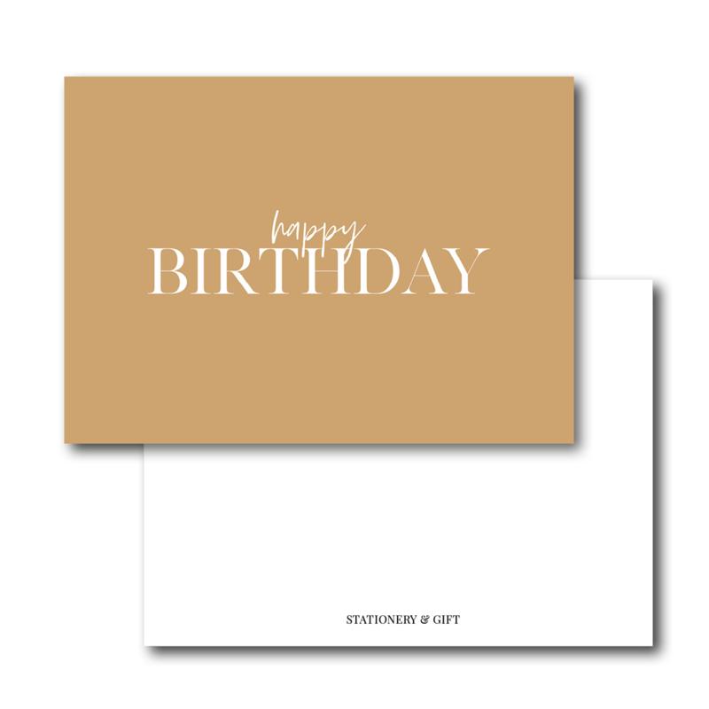 Mini Kaart   Happy Birthday
