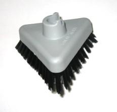 Driehoekige grijze borstel 1 gaats nylon