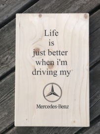 Tekstplankie Mercedes Benz