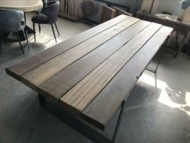 Reclaimed wood tafel 250x100