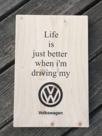 Tekstplankie Volkswagen