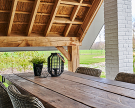 Reclaimed wood tafel 270x100