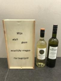 Wijn-Bierkistje Wijn stelt geen moeilijke vragen...