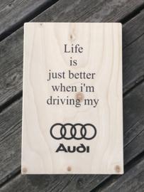 Tekstplankie Audi