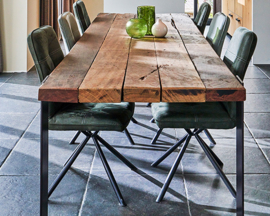 Reclaimed wood tafel 270x100