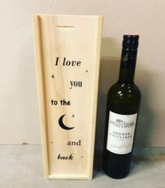 Wijn-Bierkistje To the moon and back