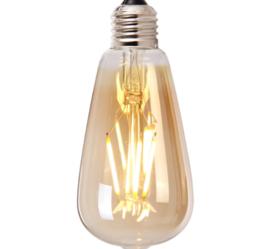 Lichtbron Druppel goud 14,5cm