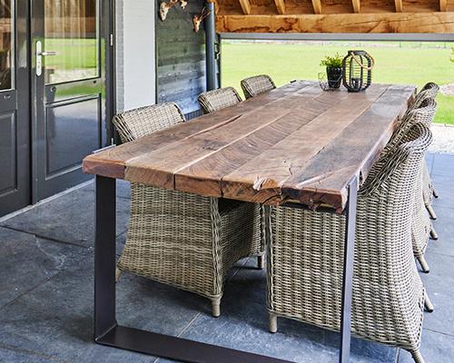 Reclaimed wood tafel 200x100