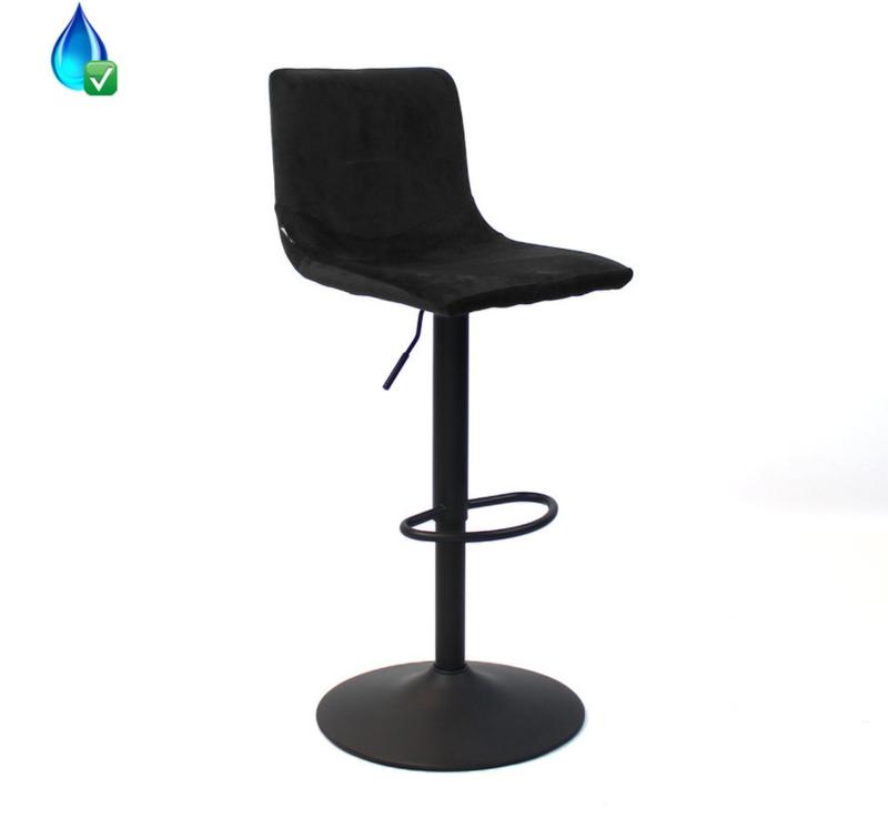 Barkruk Kas zwart velvet 59-76cm