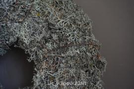 Moskrans grijs doorsnede 30 cm of 45 cm