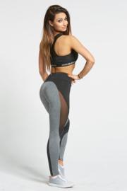 GYM GLAMOUR | SEXY BLACK/GREY FITNESS LEGGING