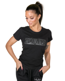 GAVELO BLACK GREY LOGO T-SHIRT