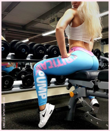 CRITICAL PUMP BLUE FITNESSLEGGING