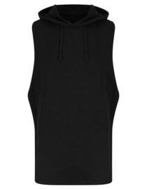 SLEEVELESS HOODIE URBAN BLACK