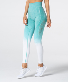 CARPATREE PHASE SEAMLESS LEGGING TURQUOISE/WHITE OMBRE