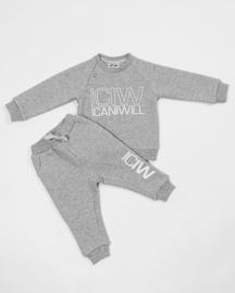 ICANIWILL BABY / PEUTER / KLEUTER SWEATER GREY MELANGE