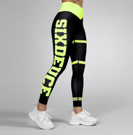 SIX DEUCE JERSEY BLACK/NEON YELLOW  FITNESSLEGGING