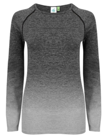 SEAMLESS LONGSLEEVE FADE OUT GREY MELANGE
