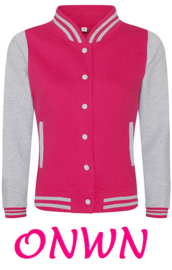 ONWN BASEBALL SWEAT VEST HOT PINK