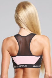 GYM GLAMOUR | PINK MESH TOP