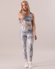 ICANIWILL WHITE CAMO FITNESSLEGGING (COMPRESSION)