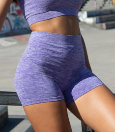 SEAMLESS SHORTS PURPLE MELANGE